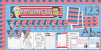 Presidents' Day Printable Pack - presidents day, usa, printable, pack