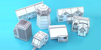 Houses and Homes Paper Models Pack - activity, activities,  crafts
