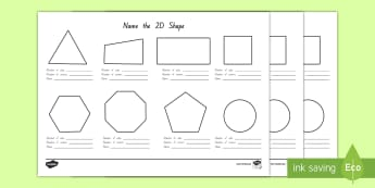 Name the 2D Shape Worksheet / Activity Sheet - New Zealand Maths, nz, geometry, shape, worksheet, sides, corners, 2 dimensional, Worksheet
