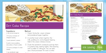 Earth Day Dirt Cake Recipe - Earth Day, oreos, pudding, cream cheese, dessert, earth, world, dirt, worms, cool whip