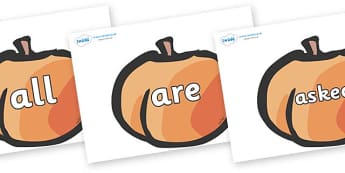 Tricky Words on Peaches - Tricky words, DfES Letters and Sounds, Letters and sounds, display, words