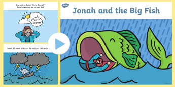Jonah and the Big Fish Story PowerPoint - jonah and the big fish, jonah and the big fish powerpoint, jonah and the big fish story, bible stories, jonah