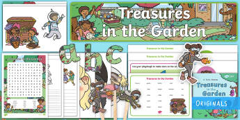 Treasures in the Garden Story Sack Resource Pack - retell, key events, beginning, Middle, End
