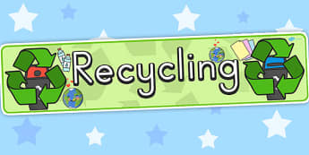 Recycling Display Banner - display, banners, poster, recycling