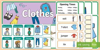 Clothes Shop Role Play Pack - Bank Role Play, banking, bank resources, Role Play Pack - role play, Display signs, display, labels, packmoney, euros, pounds, cheque book, till, cash, bank manager, cash mashine, role play, display, poster