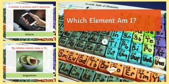 Name the Element Quick Quiz - elements, protons, neutrons, electrons, electronic configuration, revision, GCSE