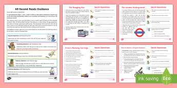 60-Second Reads: Transport Activity  Cards - 90 Words A Minute, Ninety Words, Reading, Guidance, Year 2, Y2, One Minute Reading