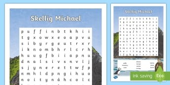 Skellig Michael Word Search - ROI - The World Around Us - Skellig Islands, Skellig Michael, monastery, monks, Kerry, clochain, bee