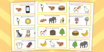 Right and Left Cards - visual, activity, activities, game, games