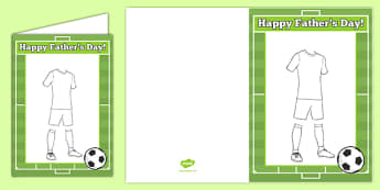 Father's Day Design a Football Kit Gift Card Template
