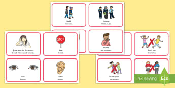 Fire Alarm Instructions Flashcards English/Italian - Fire Alarm Instructions Cards Sentences - fire alarm, instruction, sentance, setence, sentnces