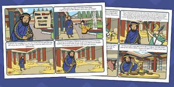 King Midas Story Cards - king, midas, story cards, story, cards