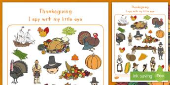 Thanksgiving I Spy Activity - Mayflower, pilgrim, thanksgiving day,Thanksgiving games, 23rd November