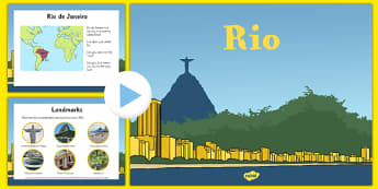 EYFS Rio Information PowerPoint - EYFS, Brazil, Olympics, Early Years, places