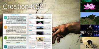 Imagine: Creation KS2 Resource Pack - adam, eve, lotus, beginning, creation, minecraft, planets, life