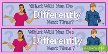 Do Things Differently Display Banner - Motivation, Display, Banner, Behaviour, Attitude, reflective,
