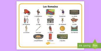 Set de vocabulaire : Les Romains - Rome, romains, romans, nombres romains, roman numbers, histoire, history, antiquité, gallo-romains,