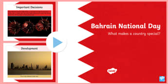 Bahrain National Day PowerPoint - Bahrain, National Day, December 16th, King, Kingdom, celebrate, Royal Family, oil, tourism, expatria