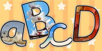 Seasons Themed Photo Display Lettering - seasons, display, letter