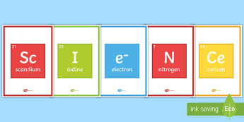 Science Periodic Table A4 Display Poster  - Science Periodic Table Display Banner - science, periodic table, display banner, display, banner,sce