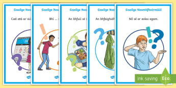 Informal Language (Neamhfhoirmiúil) 3rd and 4th Class Display Posters - Gaeilge - ROI, Gaeilge, neamhfhoirmiúil, informal language, posters, display,Irish