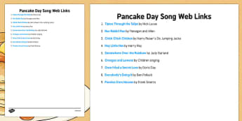 Pancake Day Song Weblinks - Elderly, Reminiscence, Care Homes, Pancake Day