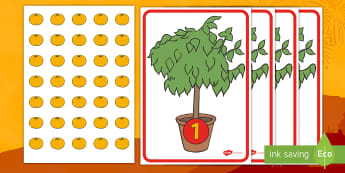 Chinese New Year Tangerines Counting to 10 Game - EYFS, Early Years, KS1,Key Stage 1, Chinese New Year, Tangerines, Chinese New Year Food, Maths, Math