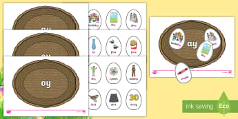 Phase 5 Easter Egg Sorting Phonics Game - EYFS, Early Years, KS1, Key Stage 1, Easter, phonics, letters and sounds, phase 4, blends, clusters,