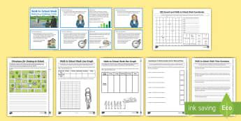 CfE Second Level Walk to School Week Maths  Activity Pack - CfE Walk to School Week 2017 (15th-19th May) JRSO, Second Level, 2nd level, Maths Activity Packs, Sc
