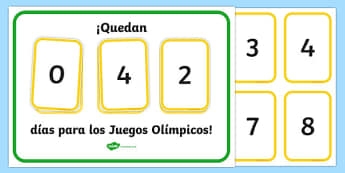 Countdown To The Olympics Display Spanish - spanish, The Olympics, countdown, counting down, display, banner, sign, poster, resources, 2012, London, Olympics, events, medal, compete, Olympic Games