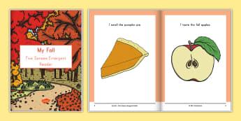 My Fall Five Senses Emergent Reader eBook - fall, autumn,  fall ebook autumn ebook, five senses ebook, seasons