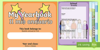 End-of-Year Scrapbook English/Italian - End Of Year Scrapbook - end of year, scrapbook, scrapbooking, photo, photos, memories, year, final,