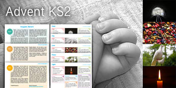 Imagine Advent KS2 Resource Pack - Advent, Christmas, Winter, Joy, Hope, Peace, Love, Light