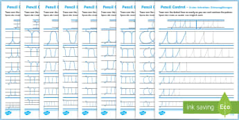 Pencil Control Loops And Curves Activity Sheets English/German - EAL, German, Pencil Control Loops And Curves Workbook - fine motor skills, literacy, writing, handwr