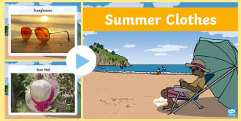 Summer Clothes Photo Display PowerPoint - Summer Clothes Photo Display Powerpoint - powerpoint, power point, interactive, powerpoint presentat