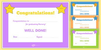 Editable End of Year Graduation Award Certificates - End of term, award, scroll, reward, award, certificate, medal, rewards, school reward