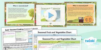 D&T: Super Seasonal Cooking: Seasonal Calendar UKS2 Lesson Pack 1