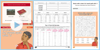 Year 3 Term 3A Week 2 Spelling Pack - y3, spelling test, look say cover write check, spelling rules, activities