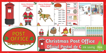 Christmas Post Office Role-Play Pack English/Romanian  -  christmas post office, christmas, post office,EAL