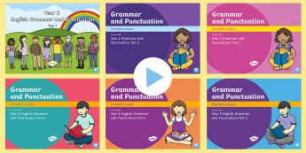 Year 2 Grammar and Punctuation Tests  Guided PowerPoint Resource Pack - KS1 SPaG Assessment Guided Lesson PowerPoints, SPaG, spelling, punctuation, grammar, GPS, assess, re