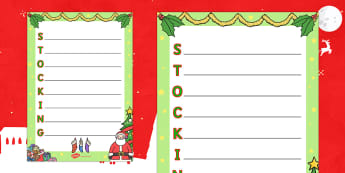 Christmas Stocking Acrostic Poem