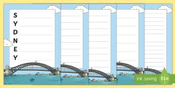 Sydney Harbour Bridge Acrostic Poem - Poetry, Writing, Australian landmark, Australian geography, australian history, literacy,Australia
