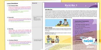 History: World War II UKS2 Planning Overview
