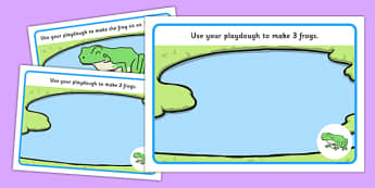 Basic Counting Frogs Playdough Mats - counting playdough mats, frogs playdough mats, numeracy playdough mats, maths playdough mats, sen, play doh, animals