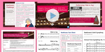 Western Classical Tradition 1650-1910 Lesson 7: Orchestral Music of Beethoven - Cadences, Symphony, Ode to Joy