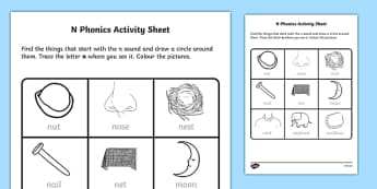 n Phonics Worksheet / Activity Sheet-Irish, worksheet