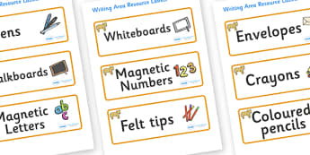 Lion Cub Themed Editable Writing Area Resource Labels - Themed writing resource labels, literacy area labels, writing area resources, Label template, Resource Label, Name Labels, Editable Labels, Drawer Labels, KS1 Labels, Foundation Labels, Foundati