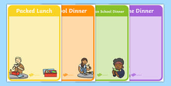 Self Registration Classroom Signs (Food) - Self registration, background, food, dsiplay sign, poster, editable, label, topic, self registration