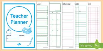 Australian Teacher Planner Academic Year 2018 DS Template-Australia - calendar, calender, planner, academic, year, organiser, organizer, 2018