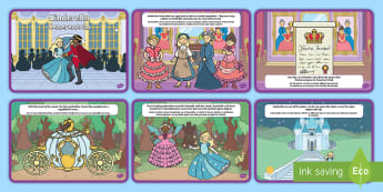 Cinderella Story Sequencing Cards English/Italian - Cinderella Story Sequencing - Cinderella, slipper, Traditional tales, tale, fairy tale, Pince Charmi